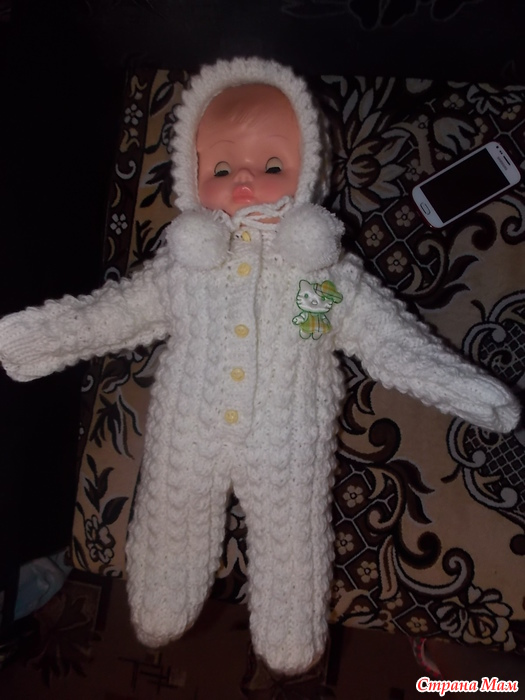 видео вязание берсановой белый костюмчик