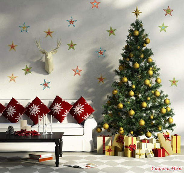 Чем украсить стенку на новый год