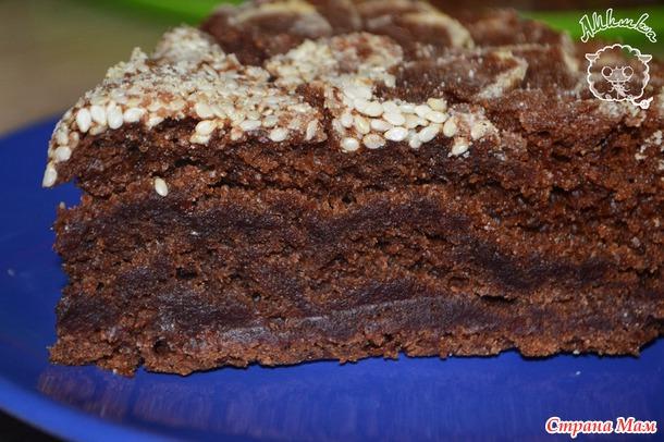 Сумасшедший постный пирог crazy cake