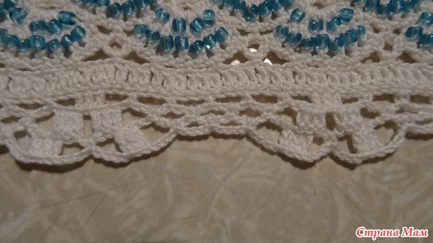 Вяжем летнее платье с бисером