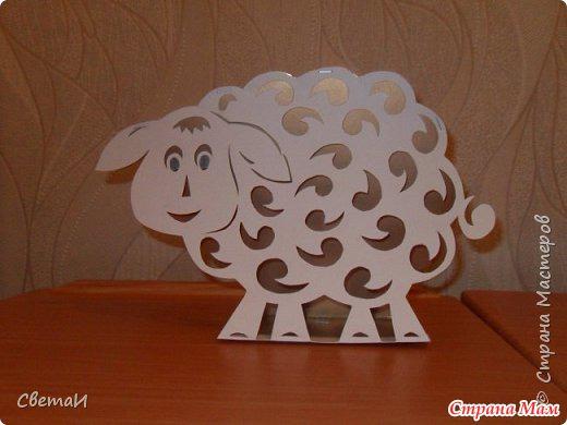 Новогодняя овечка из бумаги своими руками