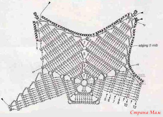 Вязание крючком подушка крючком звезда схемы и описание