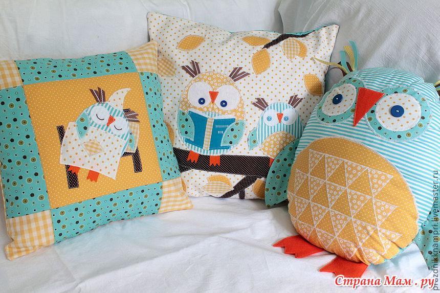 Сделать детскую подушку своими руками