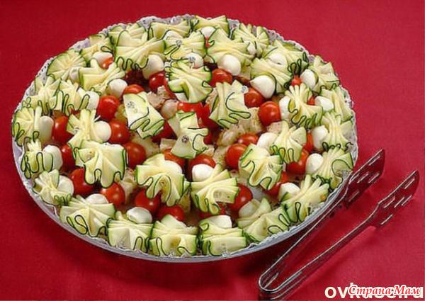 Овощные канапе на шпажках рецепты с фото