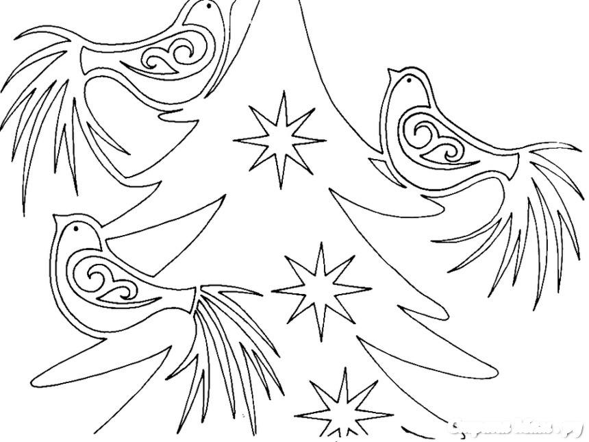 Вытынанки новогодние большие шаблоны на окна