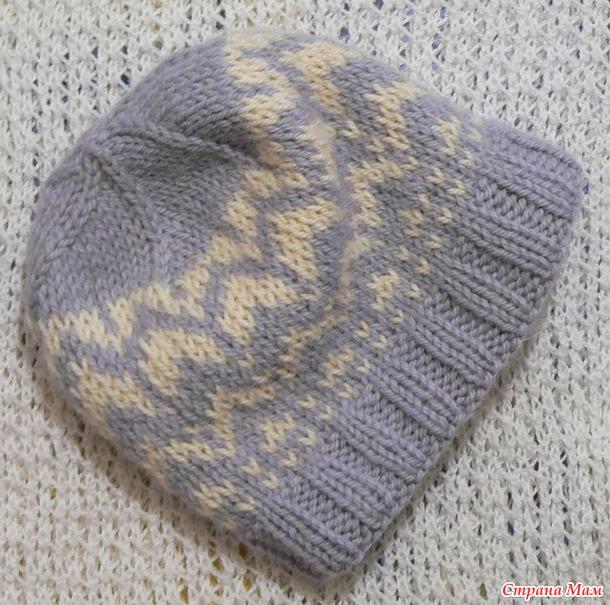 Зимняя двойная шапка для сына