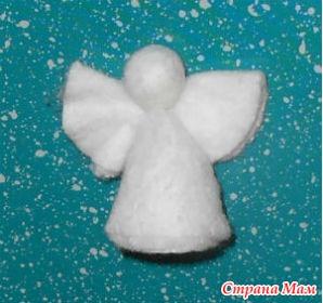 Ангелочки из ватных своими руками