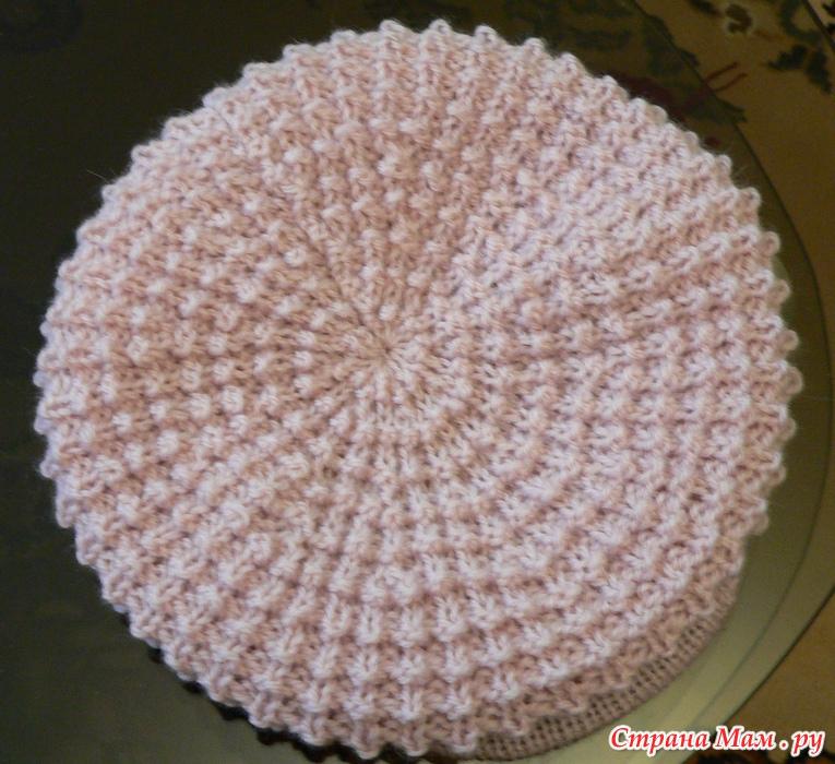 Вязание беретов спицами узор кукуруза
