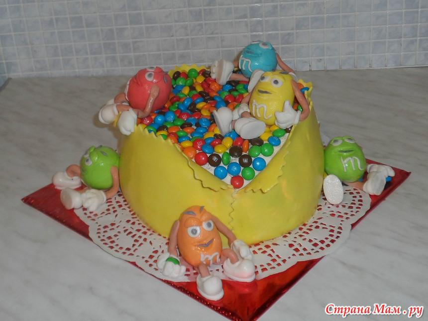 Торт с ммдемс своими руками пошагово 28