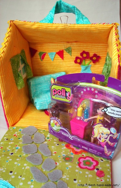 Мягкий кукольный домик