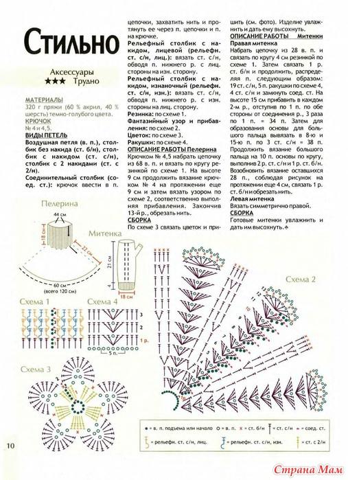 Схема вязания спицами детской манишки
