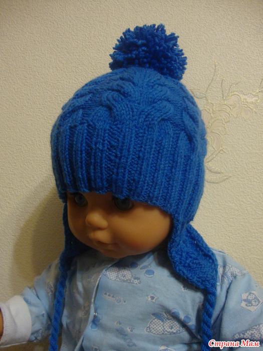 Вязание шапочка для мальчика 3 месяца 20