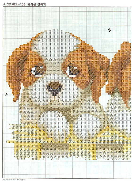 Вышивка схемы с породами собак