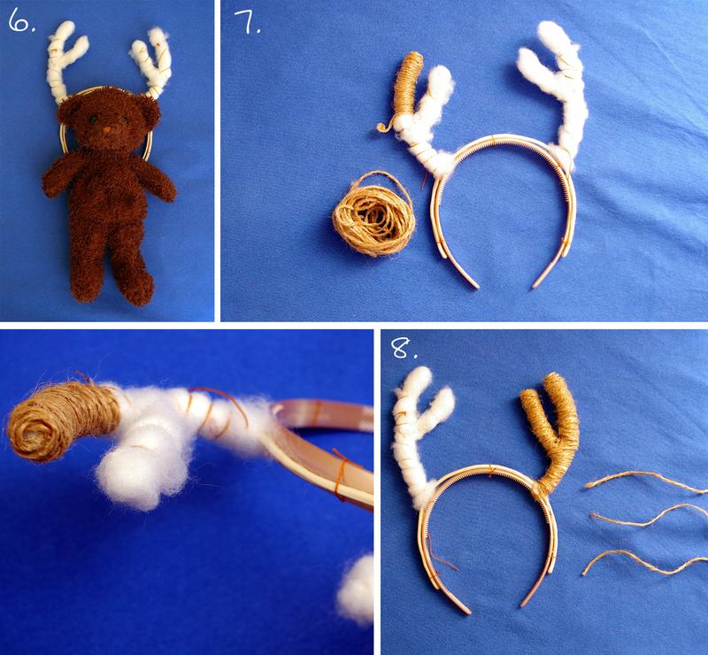 Как сделать оленьи рога из картона на голову