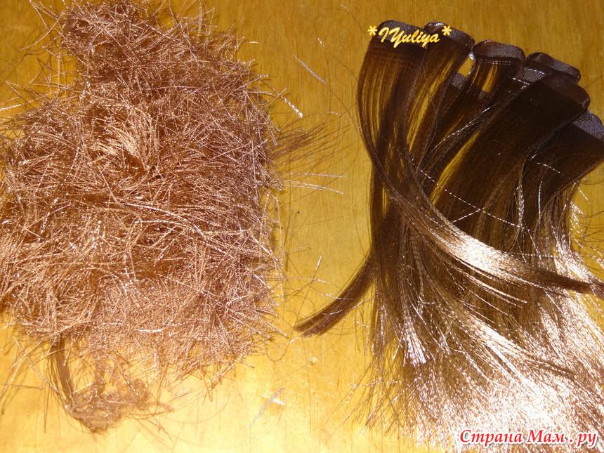Шиньон из волос своими руками 418