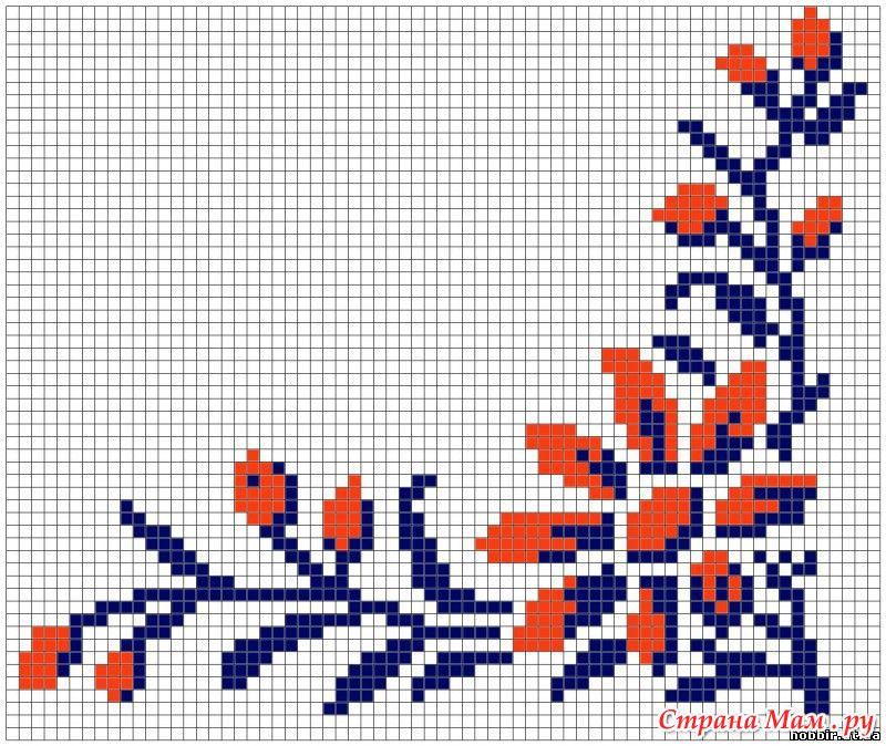Орнаменты для вышивки салфетки