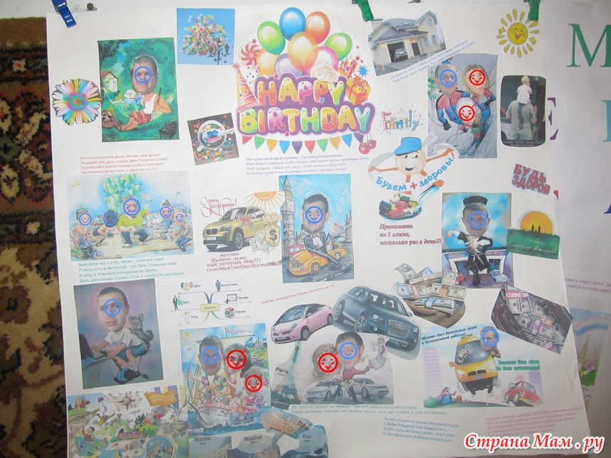 Прикольная стенгазета с днем рождения