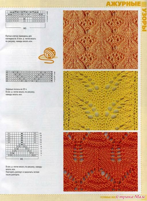 Фото и схемы вязания ажура
