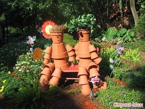 Простые фигурки для сада