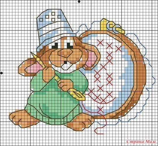 Тэги: Вышивка крестиком, мышка