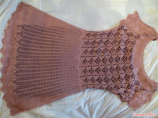 Вяжем платье по мотивам платья кайли миноуг 3