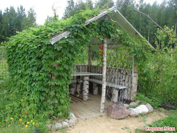 Место для отдыха на даче своими руками