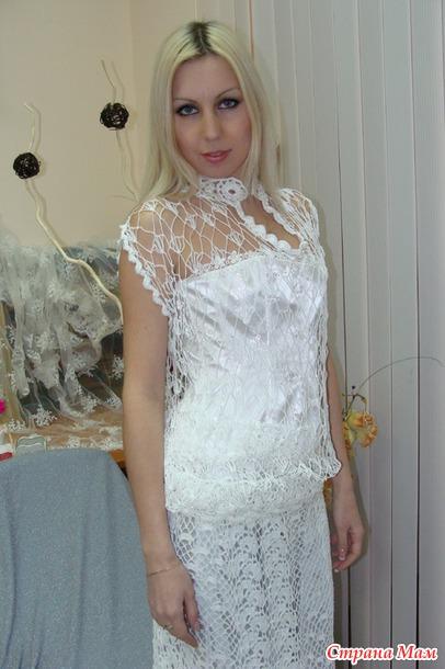 Мое первое свадебное платье крючком
