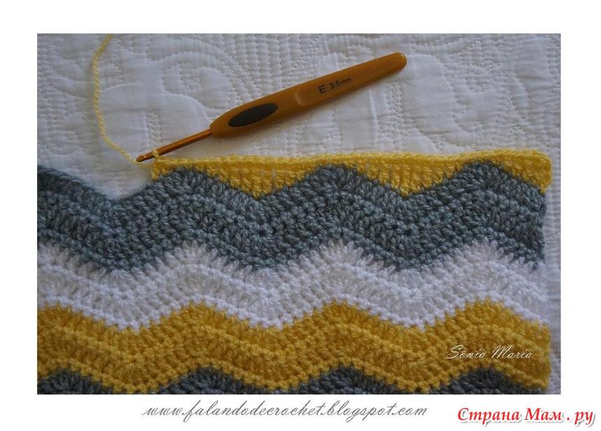 рисунка зигзаг на вязание