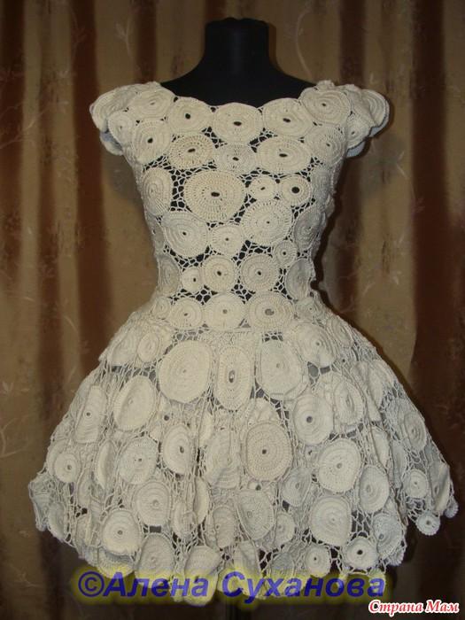 Свадебное платье крючком из чего вязать