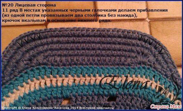 Мастер-класс с пошаговым фото по вязанию козырька на кепку