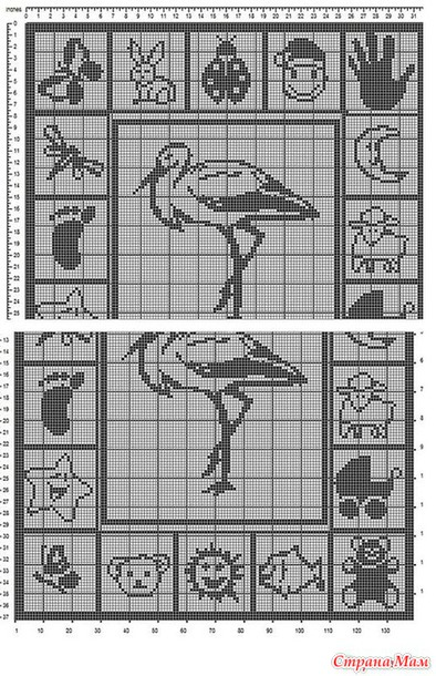 Вязание спицами плед с рисунком