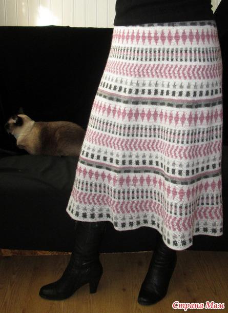 Жаккардовая ретро-юбка