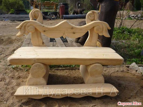 Изготовление деревянной скамейки