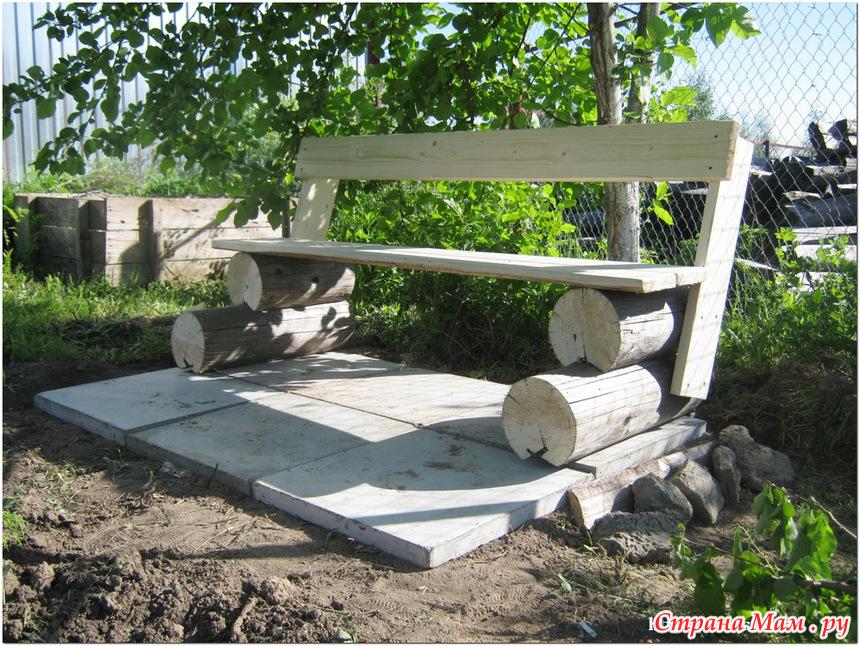 Как сделать садовые скамейки своими руками