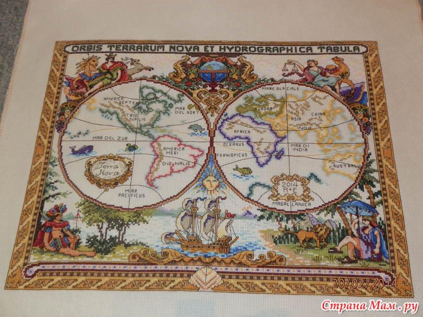 Старая карта мира от Janlynn!