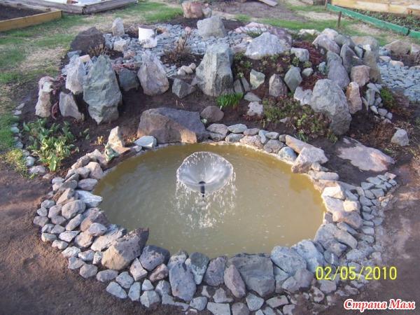 Самодельные фонтаны для дачи своими руками