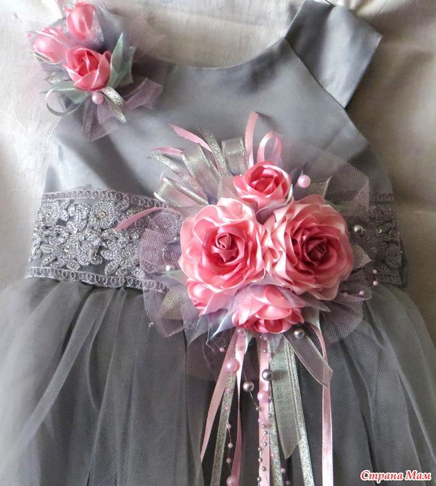 Красивые цветы на платье своими руками 91