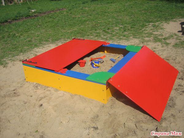 Крышки на песочницы в детском саду
