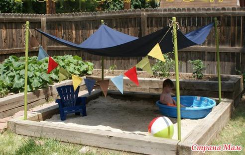 Детские песочницы для дачи фото