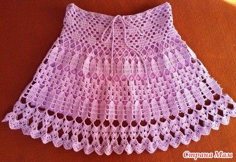Детская ажурная юбка крючком