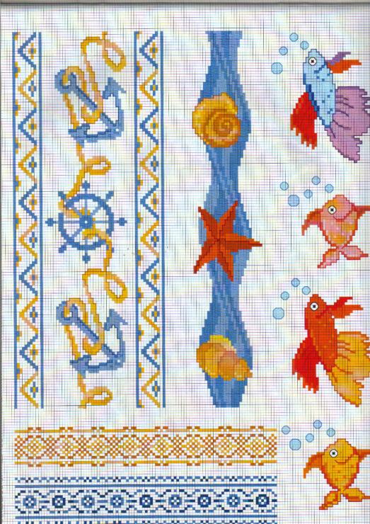 Вышивки крестиком морская тема