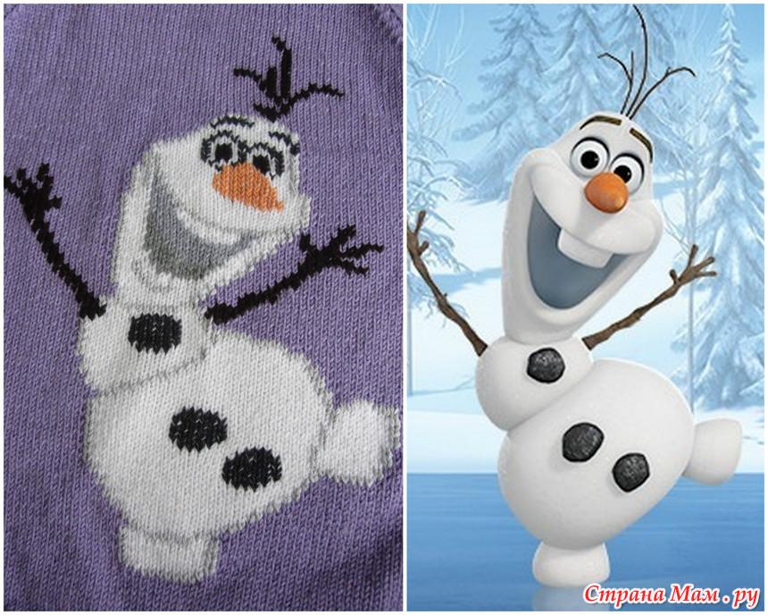 """Свитер для доченьки """"Снеговик"""