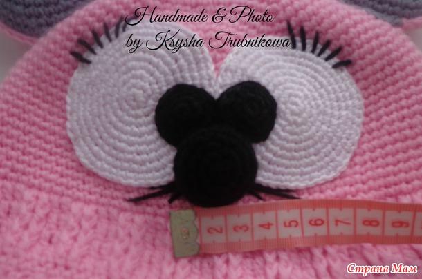 """Подробный МК комплекта """"Мышки"""" для девочек крючком! Как и обещала))) Часть №1 - шапка."""