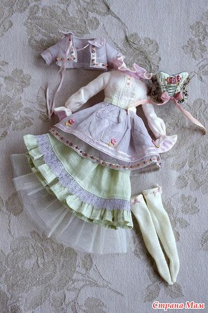 Платье бохо для тильды мастер класс