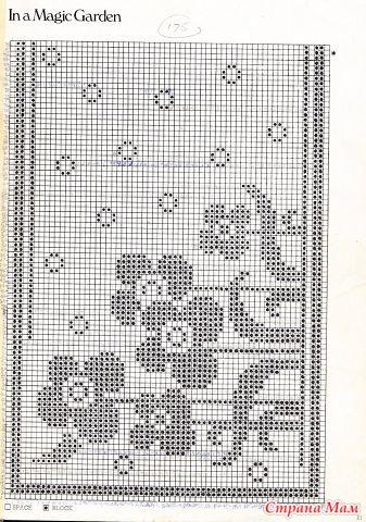 Занавески и салфетки в филейной технике.