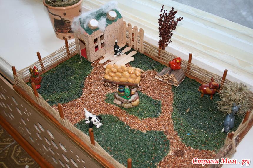 Деревенский дворик своими руками