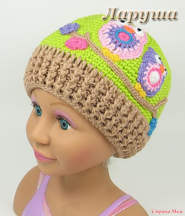 Весенние шапочки для девочек.