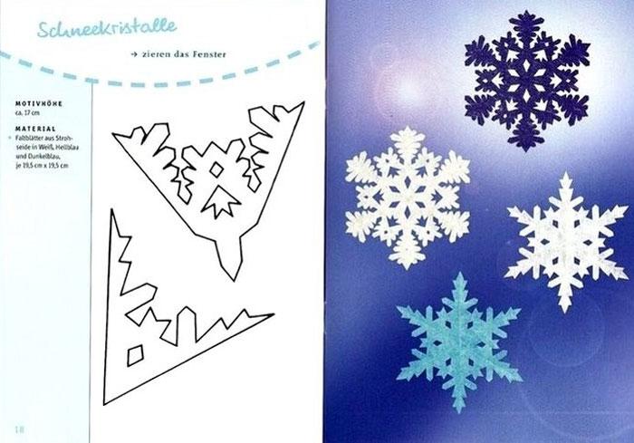 Новогодние снежинки своими