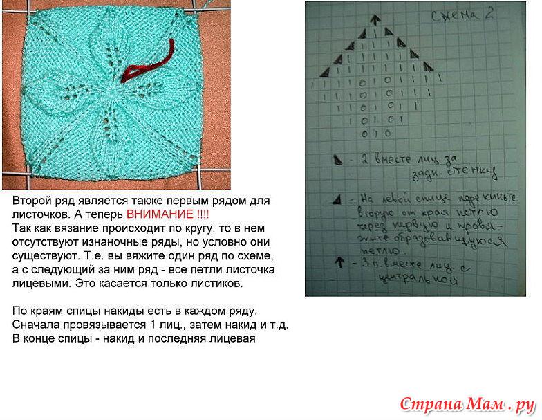 Модели вязания на спицах по кругу 213