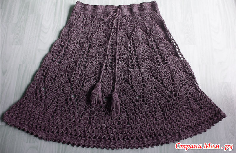 Зимняя юбка крючком